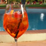 The Aperol Spritz (or its cousin the Campari Spritz) is a great pre-dinner cocktail. Photo credit Kelly Magyarics.