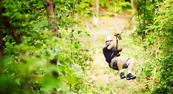 Take your dad ziplining at Salamander Resort! (Photo Courtesy of Salamander Resort & Spa)