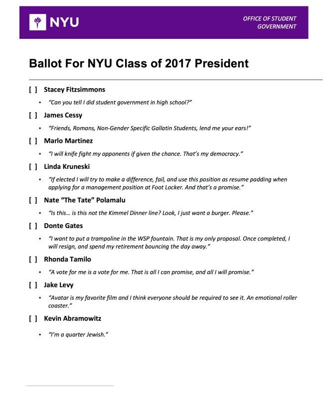 Student Council Elections Are Upon Us!