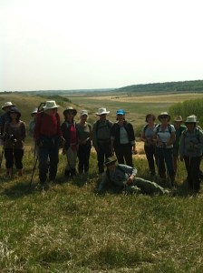 Hikers at East Battle River