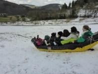 Bananenboot im Schnee