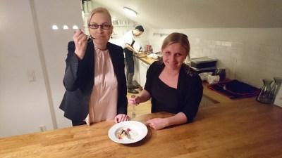 From Waste to Tasten Johanna Kohvakka (vasemmalla) ja Sini Suomalainen