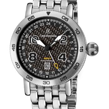 CHRONOSWISS TIMEMASTER: CH-2533 acero inoxidable, con carátula de fibra de carbón.