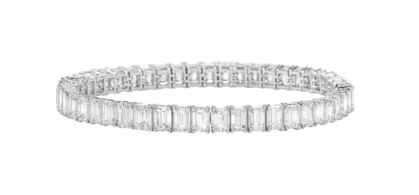 5. PULSERA DE DIAMANTES EMERALD CUT