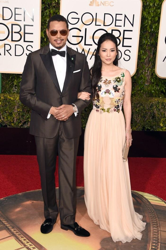 Terrence Howard y Mira Pak (Foto por Jason Merritt/Getty Images)