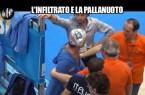 Le Iene, l'infiltrato e la pallanuoto ( un intrus dans l'équipe italienne)
