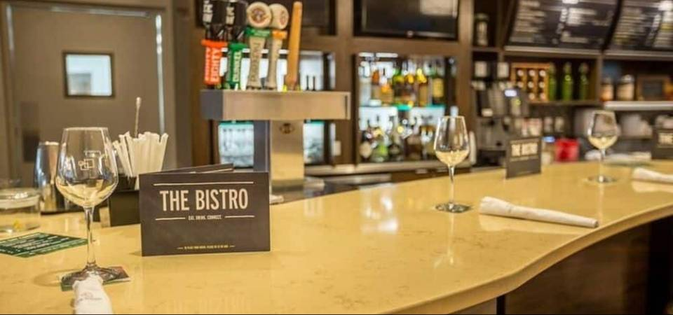View of a the Bistro Restaurant close up of the Counter at the Courtyard Marriott in Pigeon Forge 960