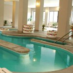 The Lazy River and Indoor Pool at the Park Tower Inn Pigeon Forge Tn