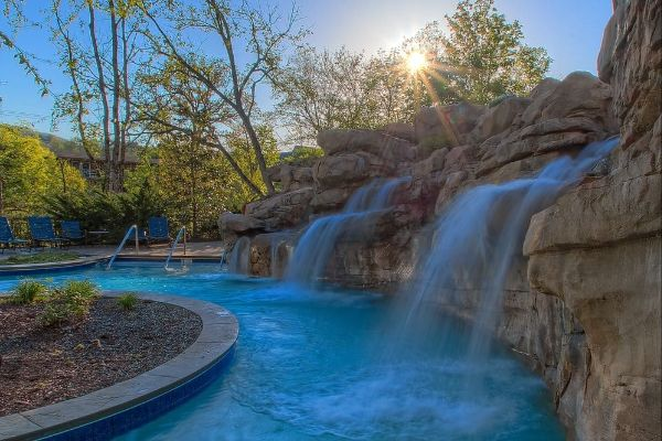 Lazy River with waterfall at the Riverstone Resort and Spa 600