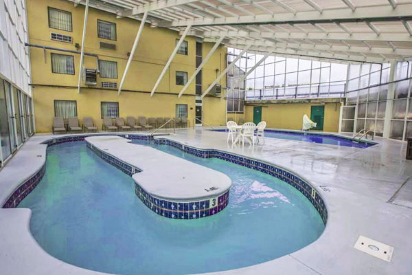 View of the indoor pool and lazy river at the Sleep Inn & Suites in Gatlinburg 600