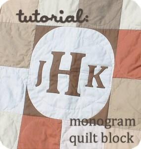 Monogram Quilt Block Tutorial by Waterpenny.net