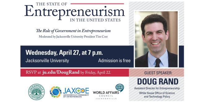 White House's Doug Rand comes home to discuss Entrepreneurism in the U.S. at JU