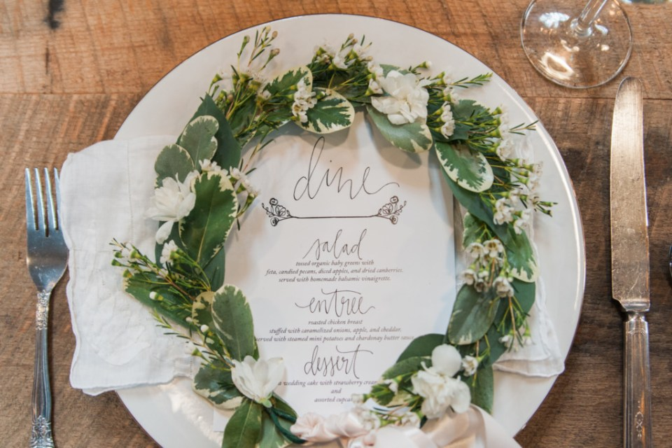 Overlook Barn NC Wedding Venue - Menu