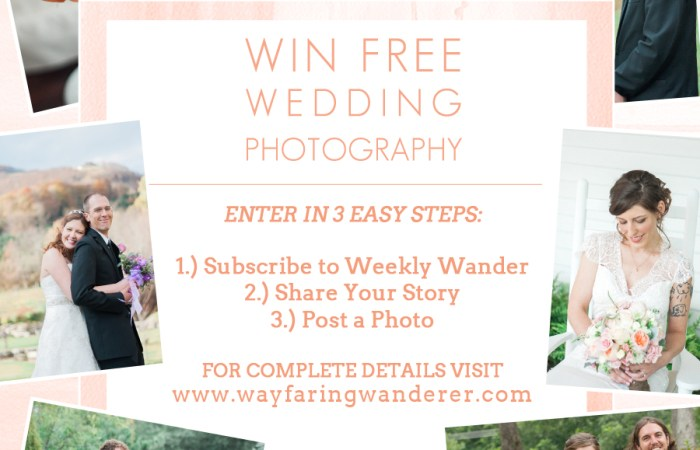 Wedding Photography Giveaway Hosted by Boone Photographer Wayfaring Wanderer