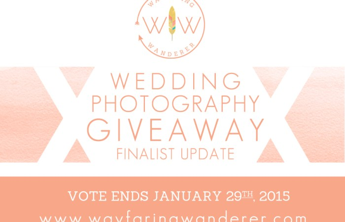 **CONTEST UPDATE** Wedding Photography Giveaway Hosted by Boone Photographer Wayfaring Wanderer