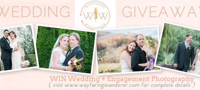 Wedding + Engagement Photography Giveaway WINNER ANNOUNCEMENT