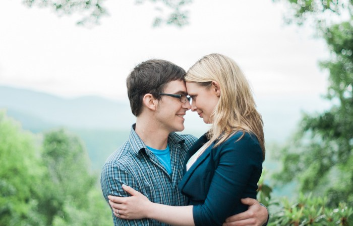 Gideon Ridge Inn Engagement Pictures in Blowing Rock, NC