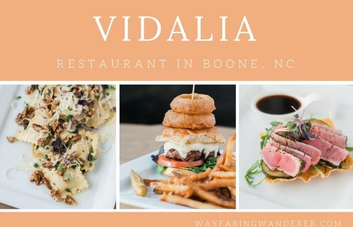Boone, NC Restaurant You Must Try: Vidalia Restaurant & Wine Bar
