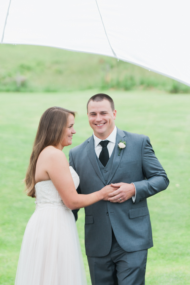 White Fence Farm Wedding - First Kiss Photo