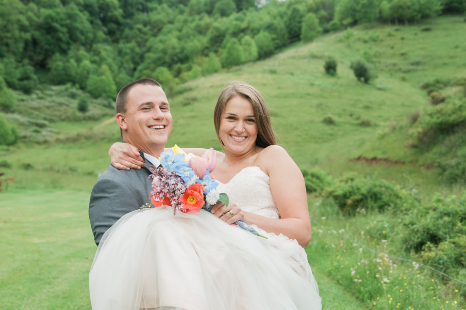 White Fence Farm Wedding Photos - Bride & Groom Portraits