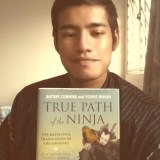 """Selfie with """"True Path Of The Ninja: The Definitive Translation Of The Shoninki"""" book"""
