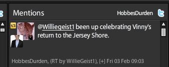 Willie Geist retweets a @HobbesDurden tweet