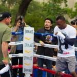 Campeon Austin Trout hace entrenamiento publico en SA