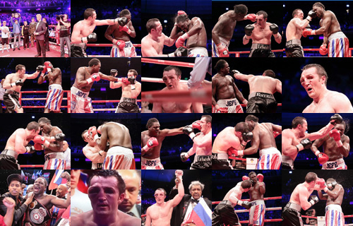 PHOTO GALLERY- Jones vs Lebedev - WBA Cruiserweight Title at Moscow- Russia