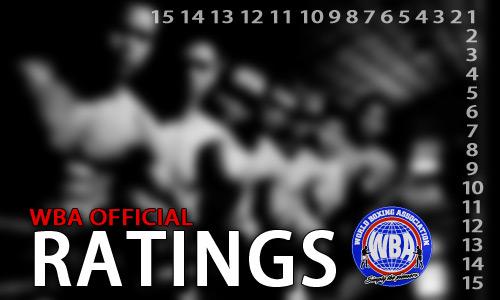 WBA Official Ratings as of April 2013