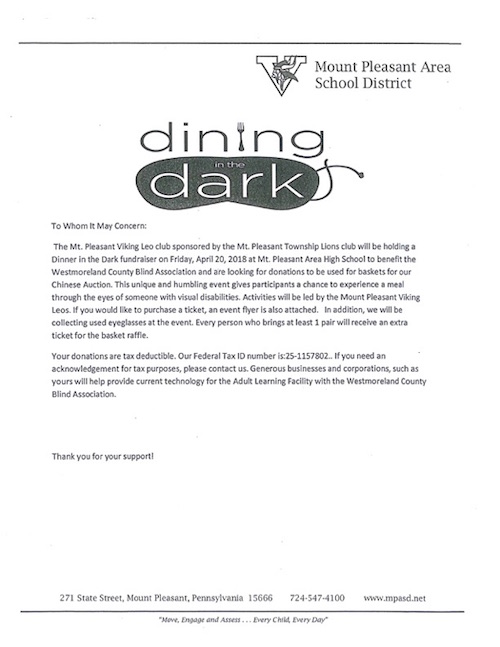 dining in the dark invitation