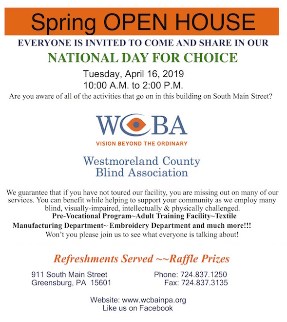 Image shows invitation to our Spring Open House to celebrate National Day For Choice.