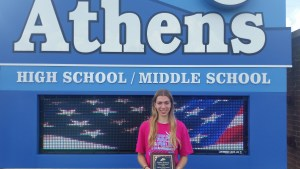 June Athlete of the Month, Autumn Wickman, Athens