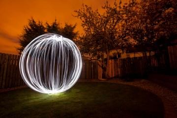 light painted orb