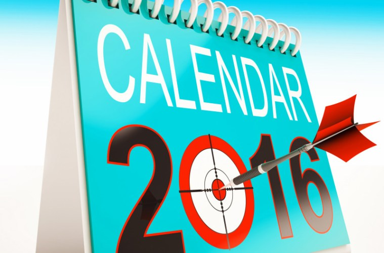 2016 Calendar Target Showing Year Planner And Schedule