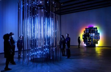 0Installation view_LEO VILLAREAL_Cylinder II_and_DAVID BATCHELOR_Magic Show_Image 2_dwnsz.jpg