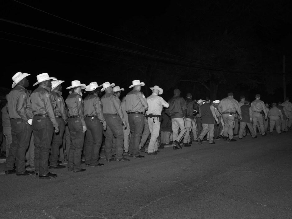 USA. Huntsville, Texas. 2013. Execution of Jerry Martin. Huntsville Prison, Walls Unit.