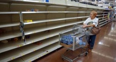 Bare shelves, violence and long lines to get food are now the norm.