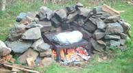 real passover roasting pit