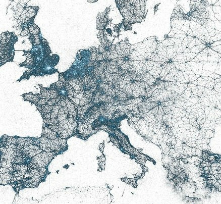 cartographie des Tweets en Europe