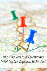 The True Secret to Discovering What We Are Supposed to Do Next