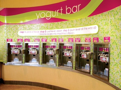 Mechie's frozen yogurt parlor