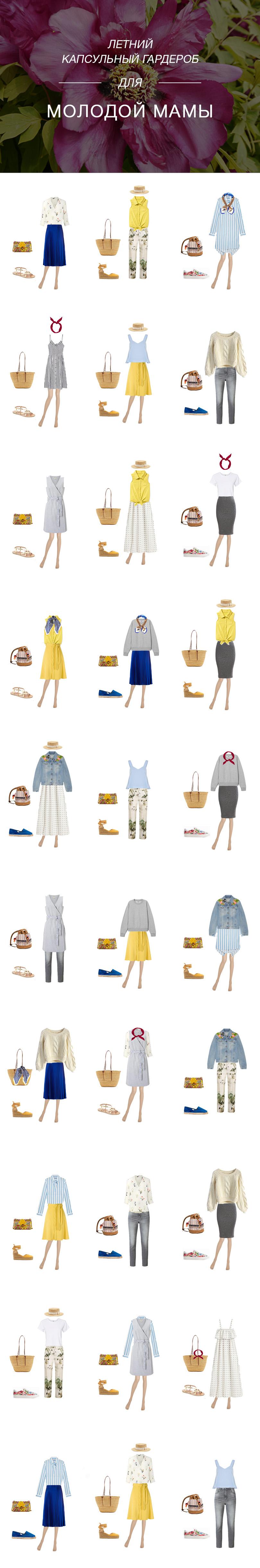 капсульный гардероб на лето для молодой мамы