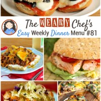 Easy Weekly Dinner Menu #81: Back to School Dinner Ideas