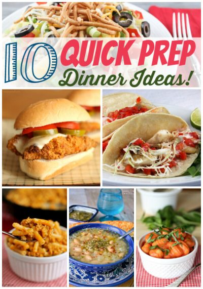 Quick Prep Dinner Recipes - The Weary Chef