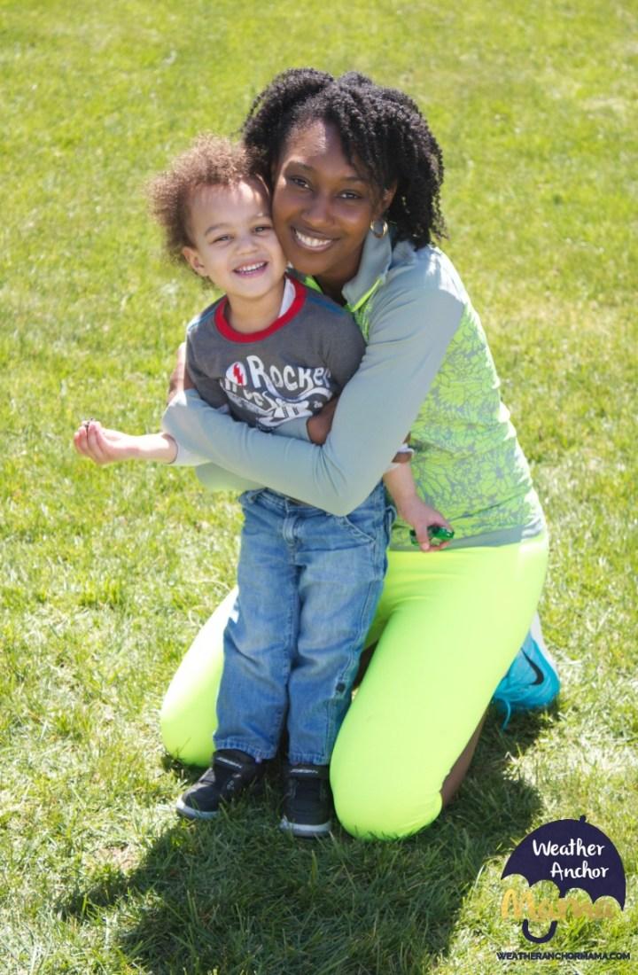 practical jokester toddler multiracial family biracial