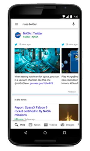 Bientôt, vous verrez des Tweets dans vos recherche Google ! - mobile