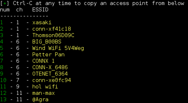 Wifiphisher : Cibler un point d'accès