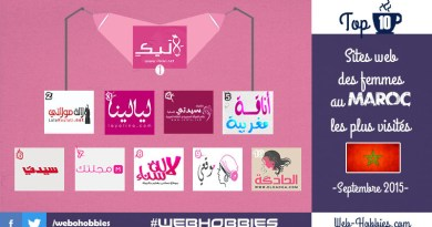 TOP 10 Sites web femmes Maroc - Septembre 2015 -