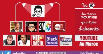 Top 10 chaînes Youtube au Maroc qui ont plus d'abonnés