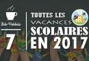 Les TOUTES 7 vacances scolaires 2017 officielles en France